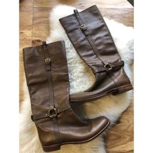 Coach | Tan Leather Riding Boots
